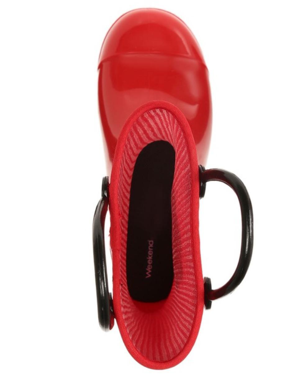 e513522a Bota de lluvia Weekend con diseño tipo bombero para niño